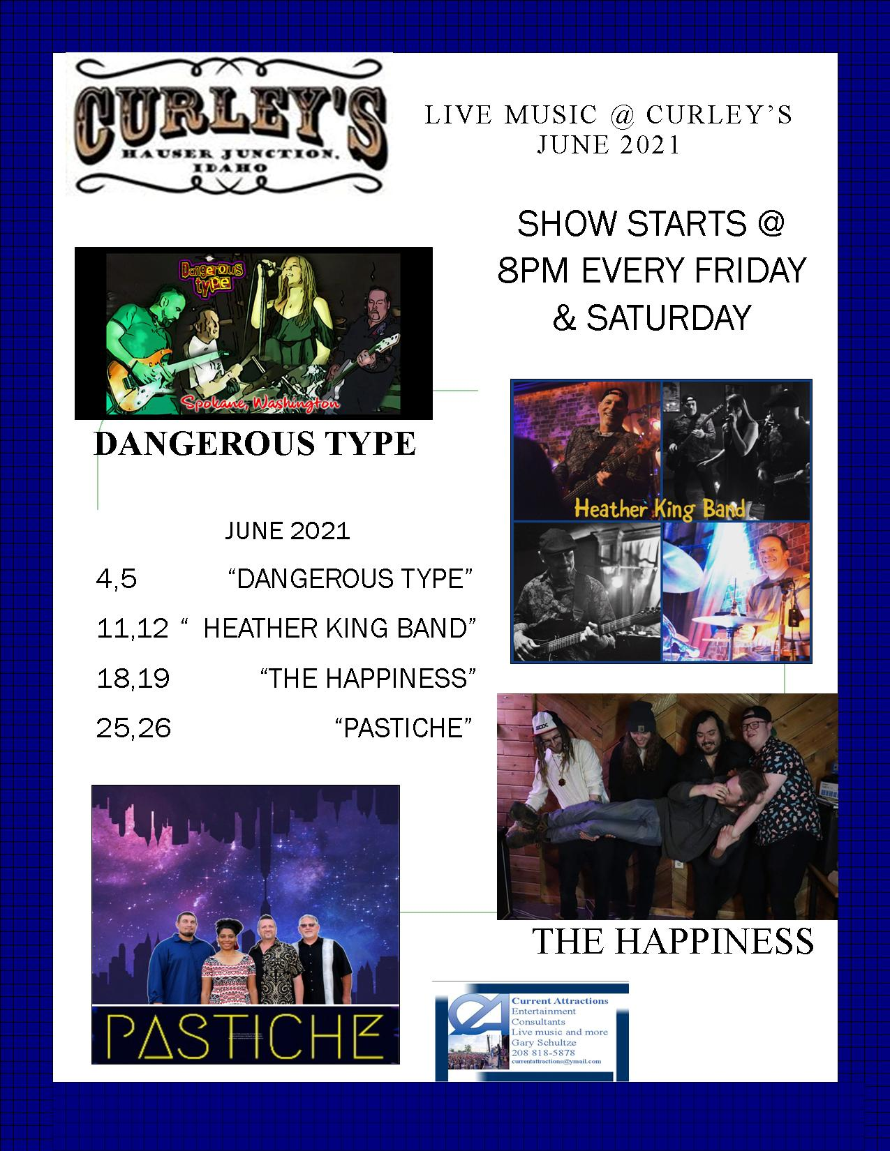 Curley's Hauser Junction Live Music April