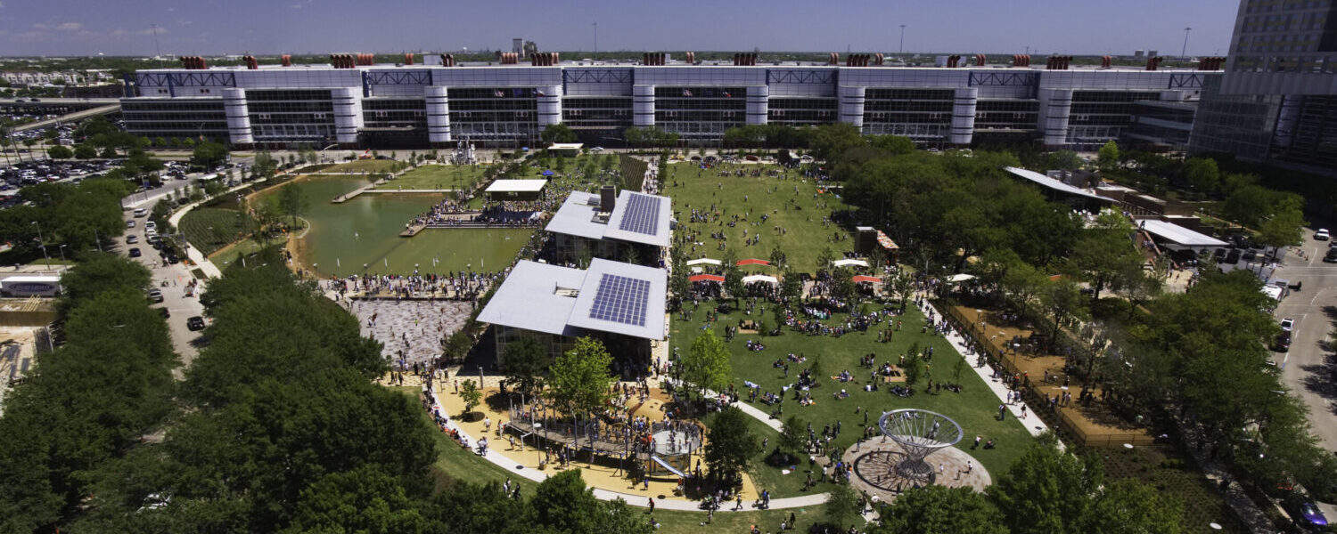 Birds-eye view of Discovery Green