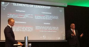 Delivering the Leadership and Teamwork session with Mark Donaldson VC