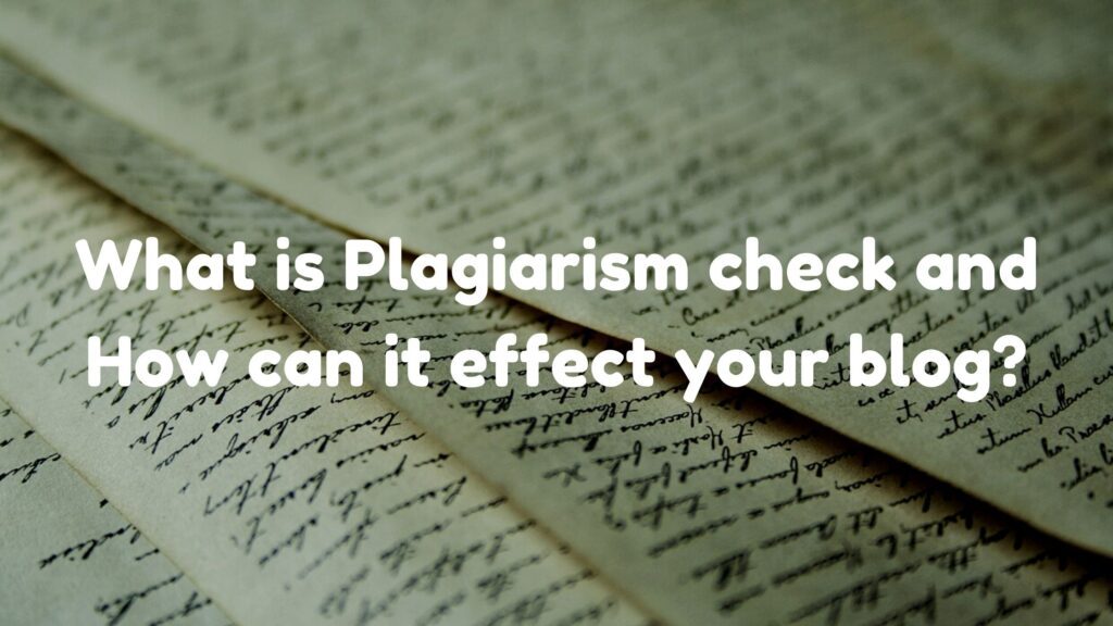 What is Plagiarism check and How can it effect your blog_