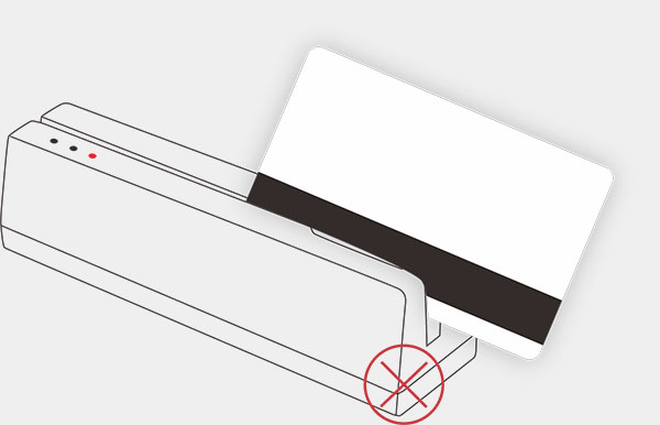 swiping magnetic stripe card with a reader