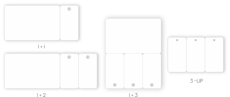 PVC combo cards, 1+1, 1+2, 1+3