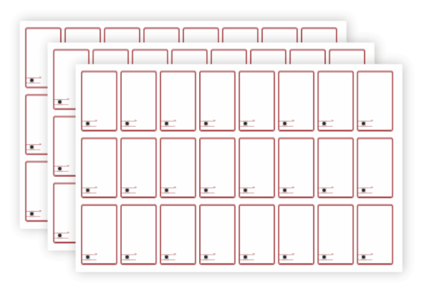 rfid inlay layout 3*8