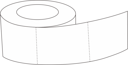 RFID ticket in roll packing format