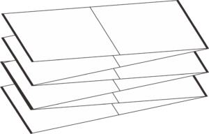 RFID ticket in fanfold packing format