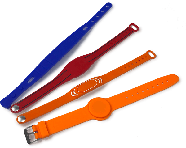 different types of rfid silicone wristband