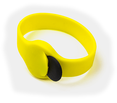rfid silicone wristband with token inside