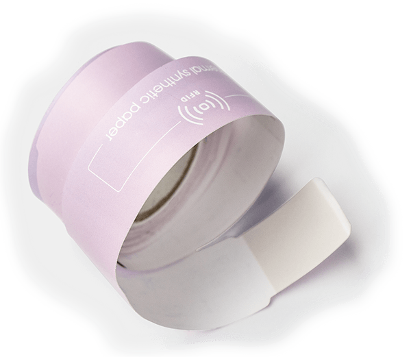 a roll of rfid synthetic wristband