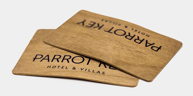 curved wooden cards