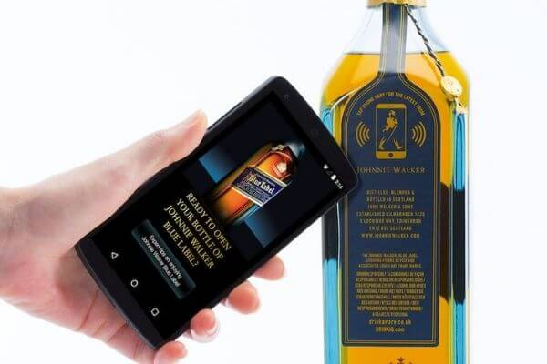 checking authenticity with an NFC phone through nfc sticker