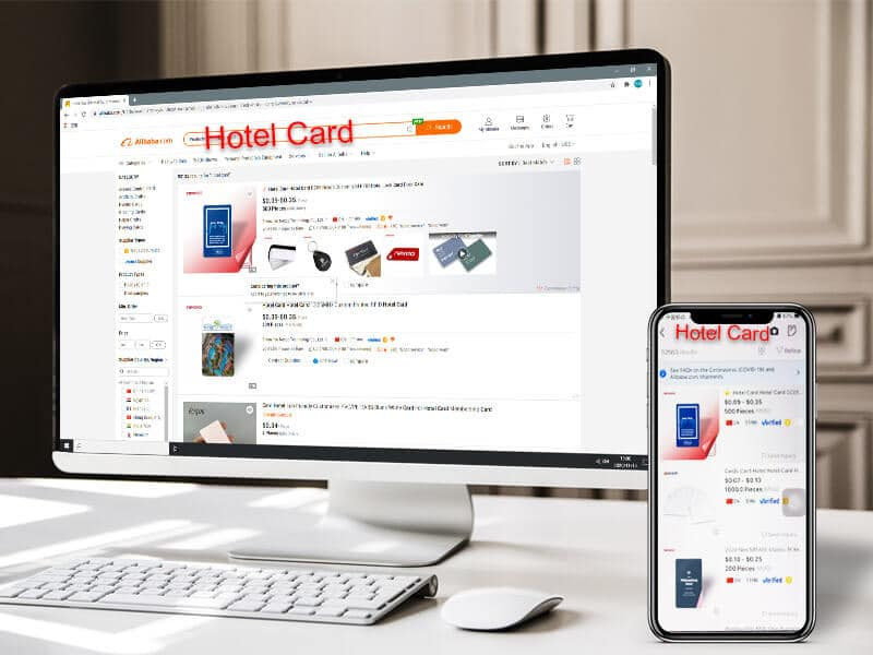 search hotel card on alibaba