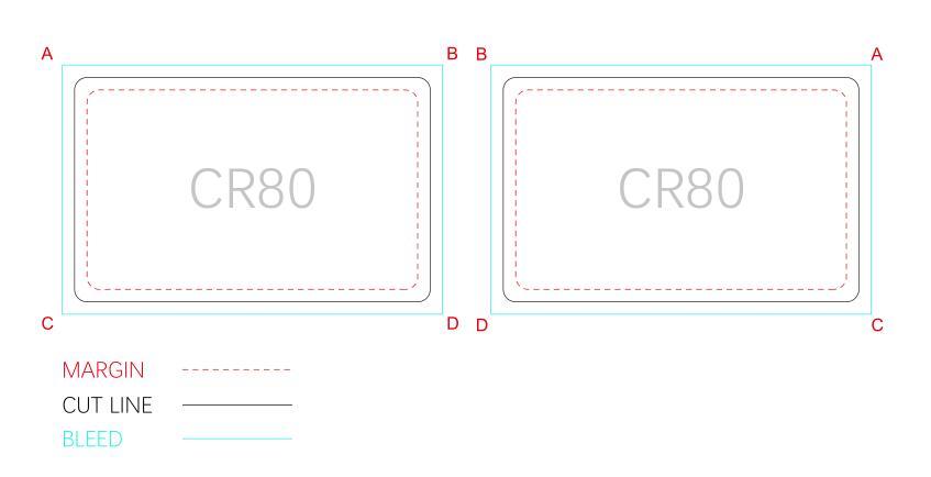 standard key card template