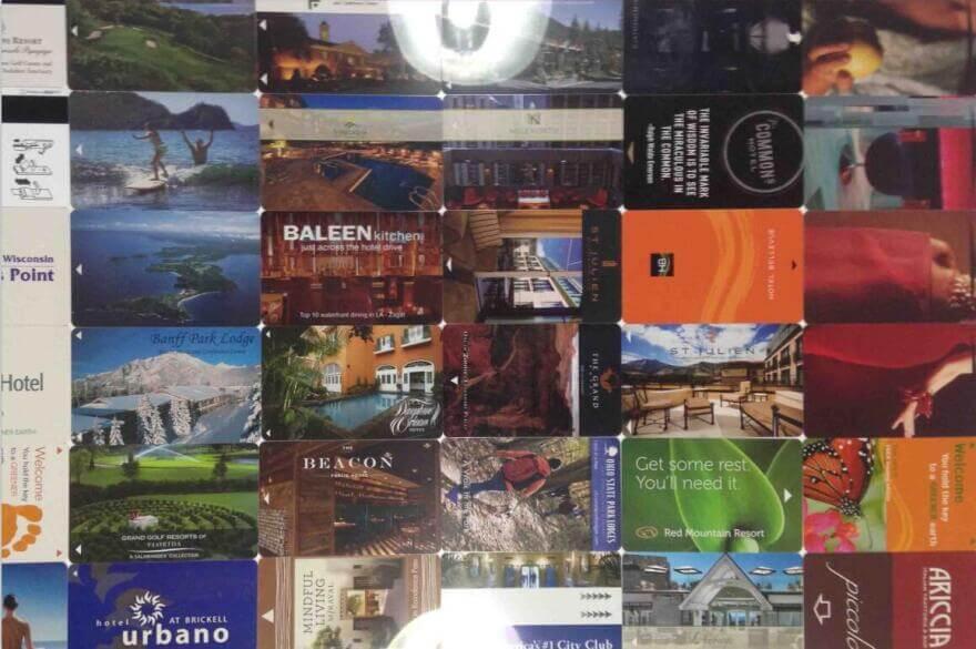 various hotel key card