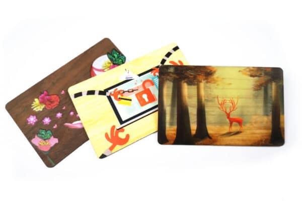 wooden key card