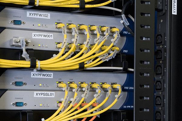 rfid led label in data center