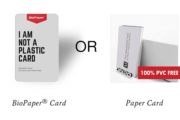 biopaper card or paper card?
