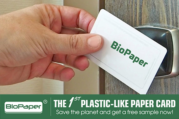 biopaper hotel keycards