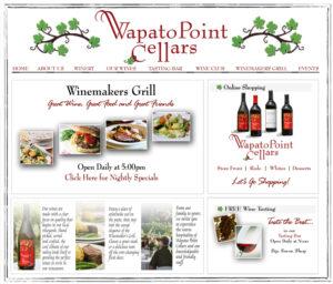 Wapato Cellars Web Design