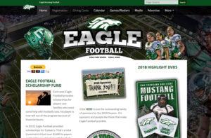 Eagle Football Web Design