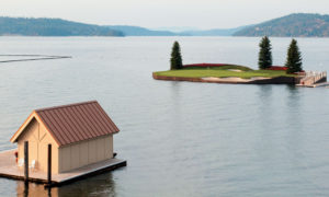 The par-3 14th at the CDA Resort Andrew Penner Photographer