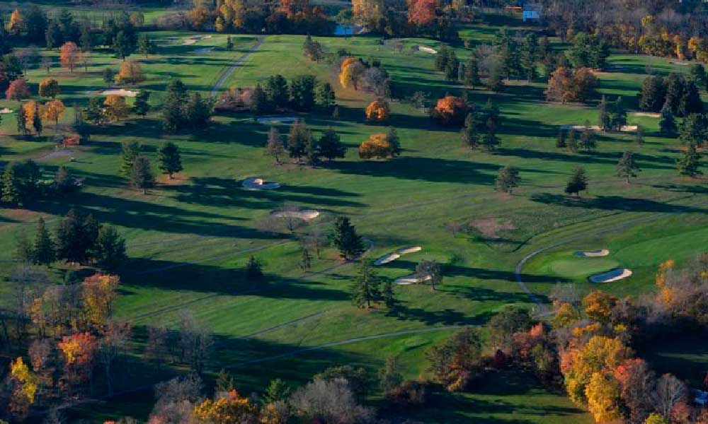 aerial view of Locust Valley Golf Club