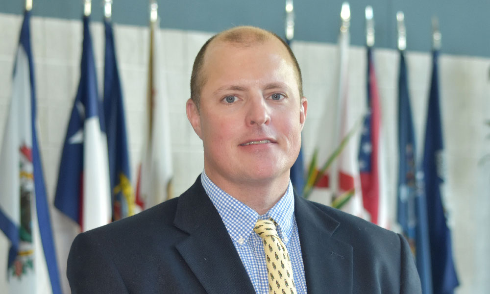 Carolinas GCSA's new president, Brian Stiehler, CGCS, MG from Highlands Country Club in Highlands, NC.
