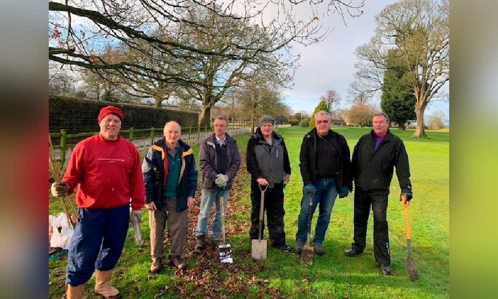 St Ives team planted hundreds of trees on the golf course