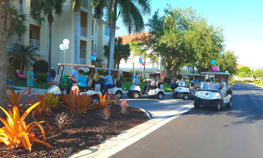 Naples Lakes Golf Carts Deliver Ice Cream & Music