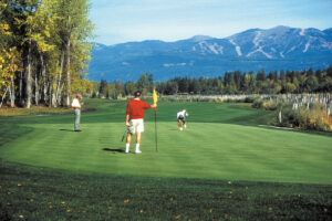 8th Hole on the South Course at Whitefish Lake GC