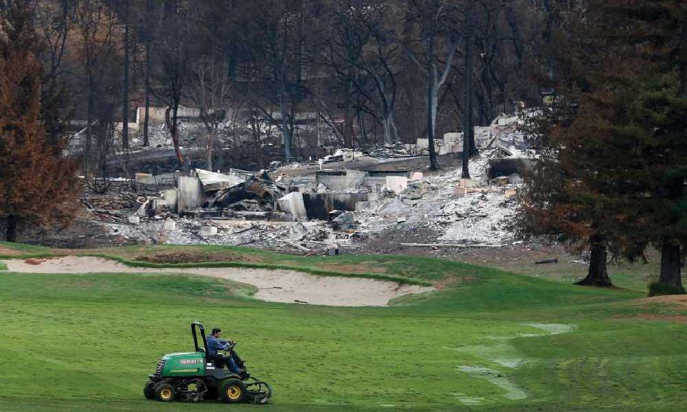 Golf Course Fire Damage