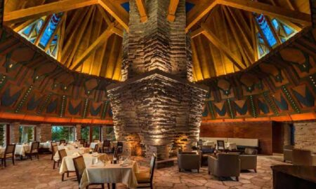The Frank Lloyd Wright-Designed Wigwam Room at Nakoma Resort- Vance Fox Photography