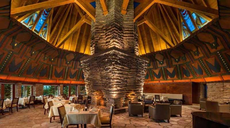 The Frank Lloyd Wright-Designed Wigwam Room at Nakoma Resort- Vance Fox Photography
