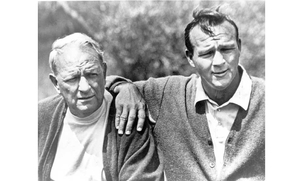 """Milford Jerome """"Deacon or Deke"""" Palmer (left) with son, Arnold."""