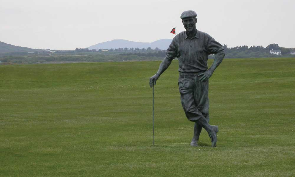 Payne Stewart Statue at Waterville (Photo by Jeff Shelley)