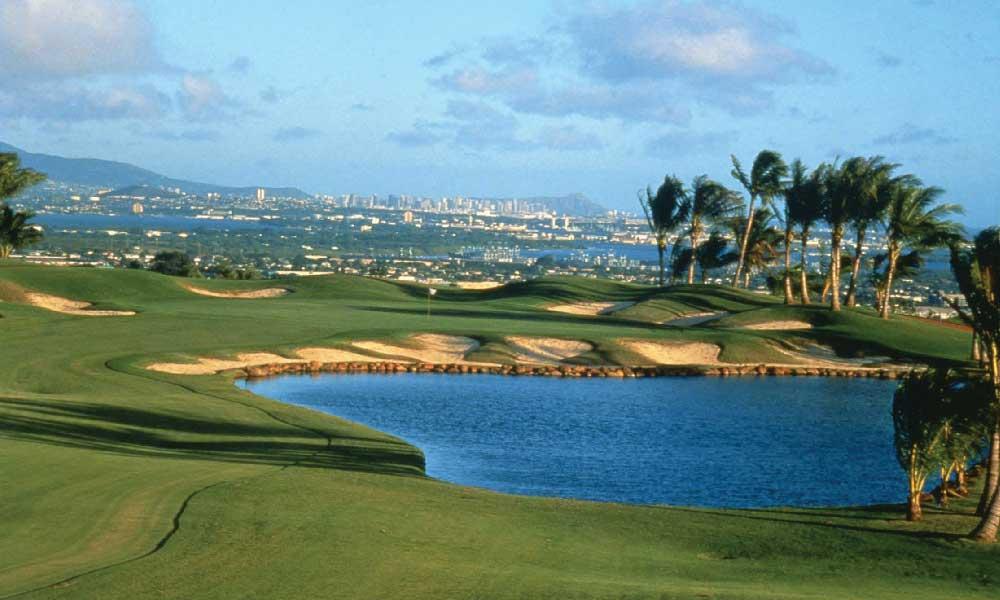 Royal Kunia Offers Views of Pearl Harbor, downtown Honolulu, Waikiki & Diamond Head Crater (Photo by Mark Miller)
