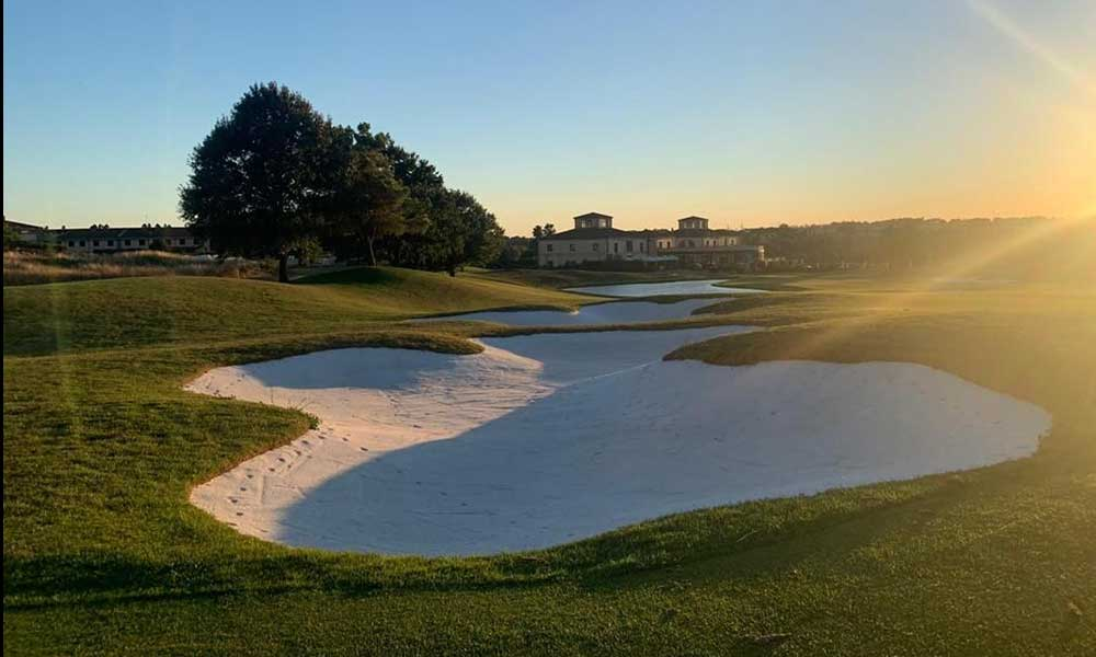 Capillary Bunkers lining system at Marco Simone course