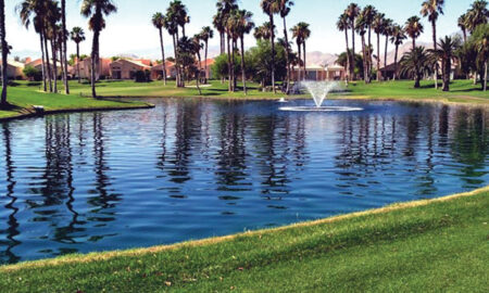 After Golf Course Fountain installed