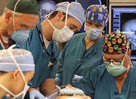 Dr. Joe Gruss (far right) at Work at Children's Hospital in Seattle