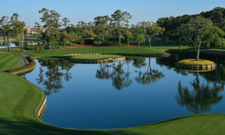 A view of the 17th green at TPC Sawgrass.