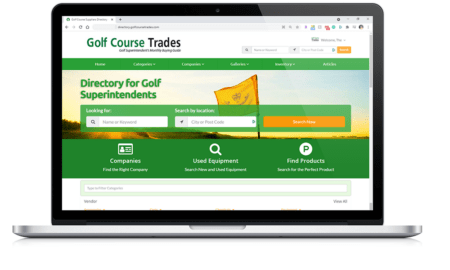 Golf Course Directory Site on Laptop