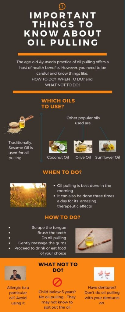 Infographic on Oil Pulling - Things to know
