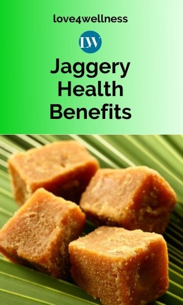 Image of Jaggery with text Jaggery health benefits