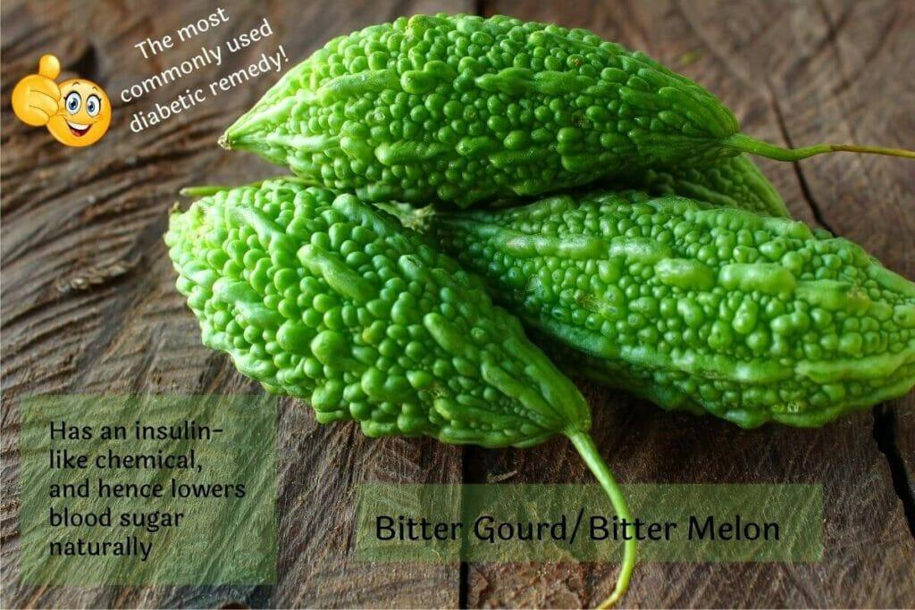 Bitter gourd (bitter melon) diabetic remedy