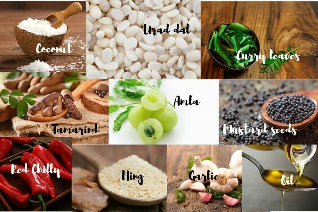 Ingredients of Amla Chutney