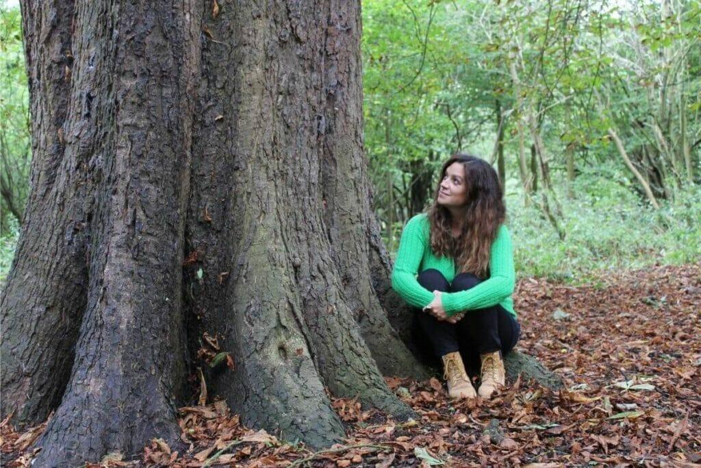 Ruth under a massive tree