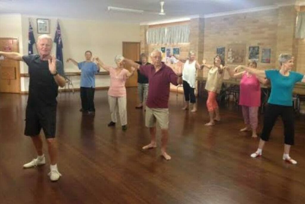 Group Tai Chi class for health benefits