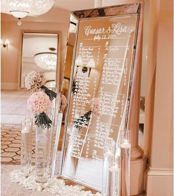 Seating Chart Mirror