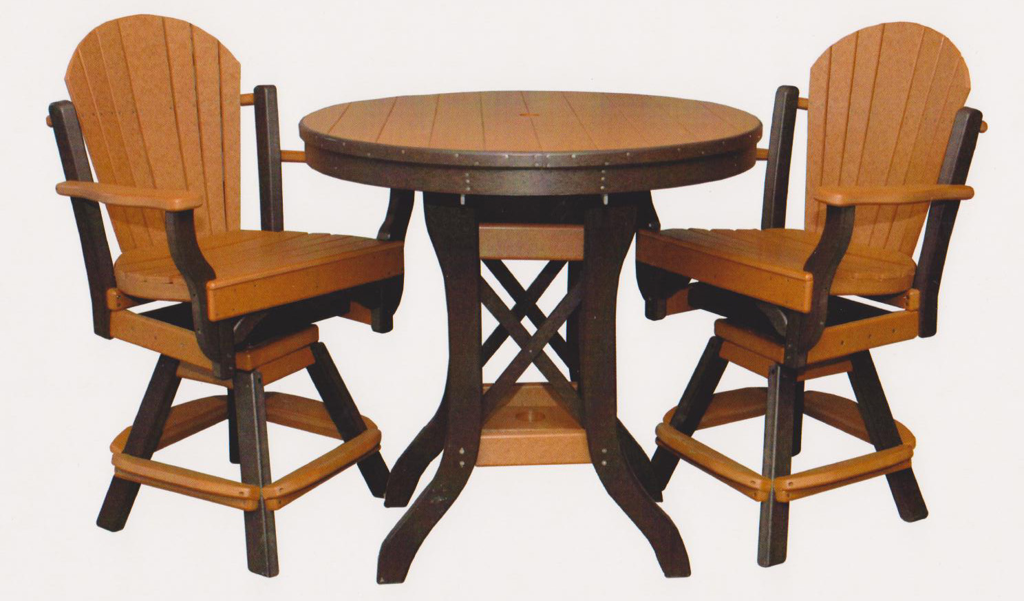 "bylers outdoor 36"" round pub table"