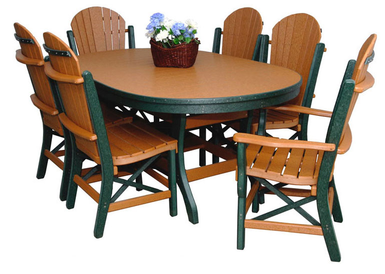Byler Outdoor Furniture Oval Dining Table
