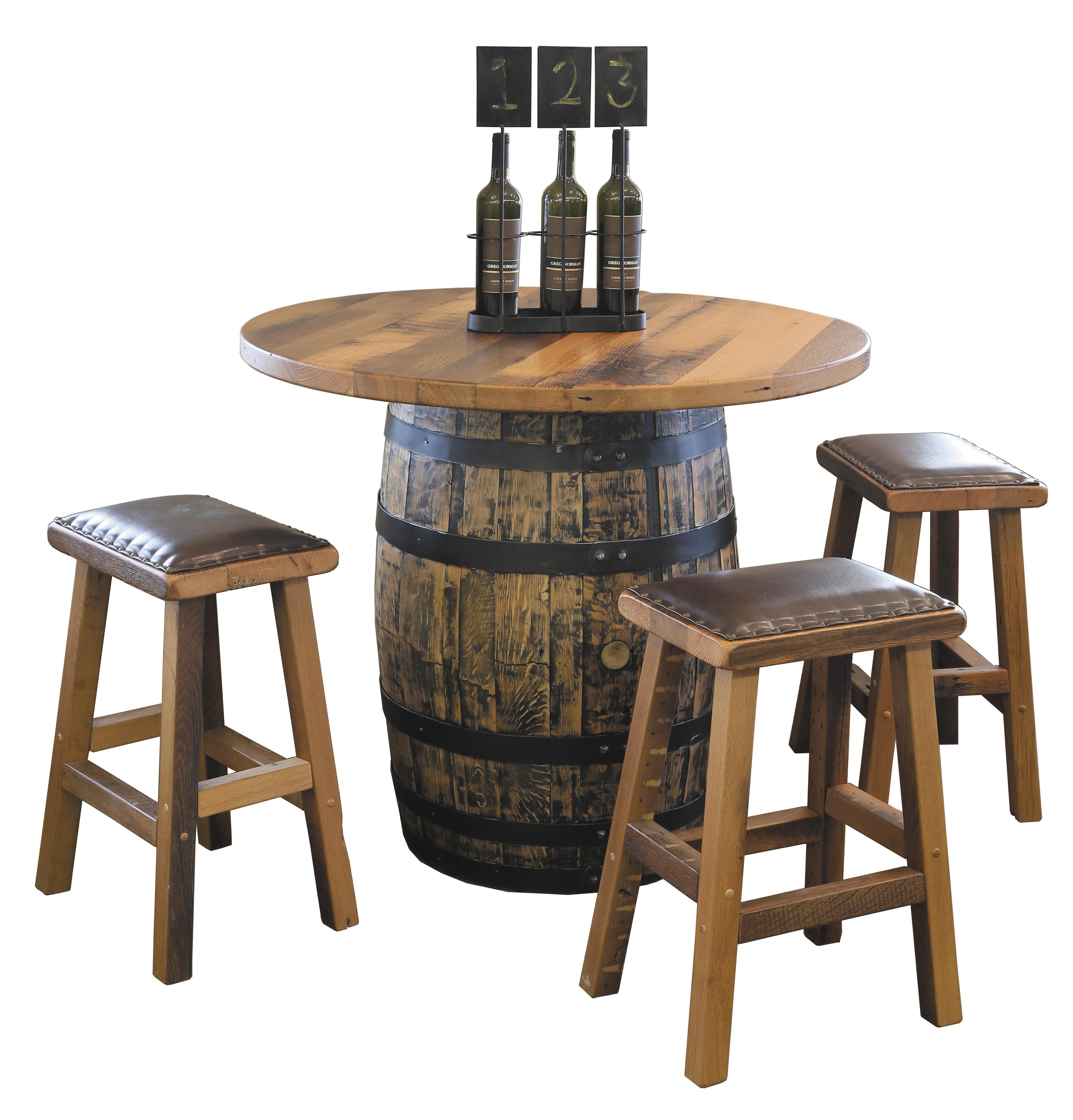 barrel pub table